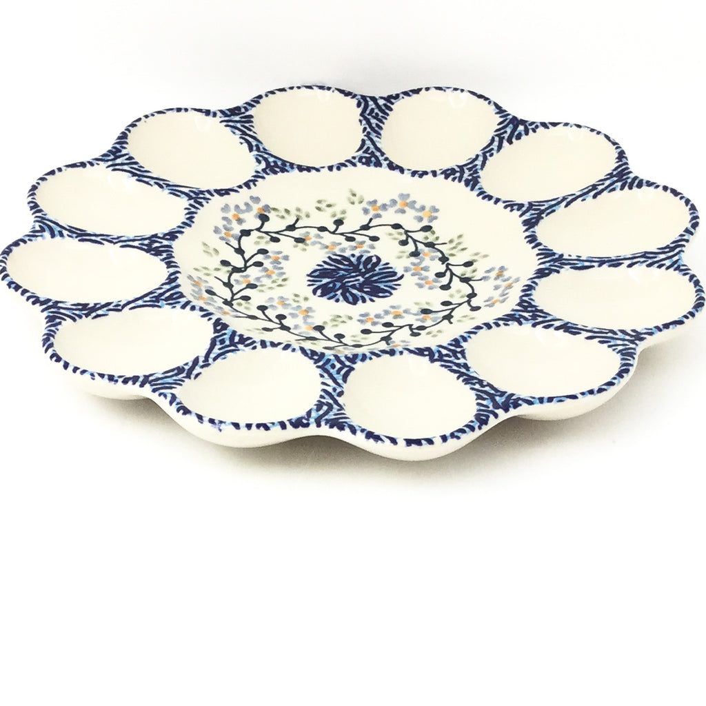 Deviled Egg Plate in Blue Meadow