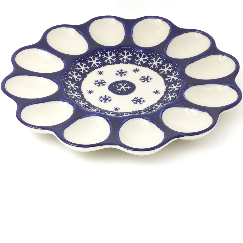 Deviled Egg Plate in Snowflake