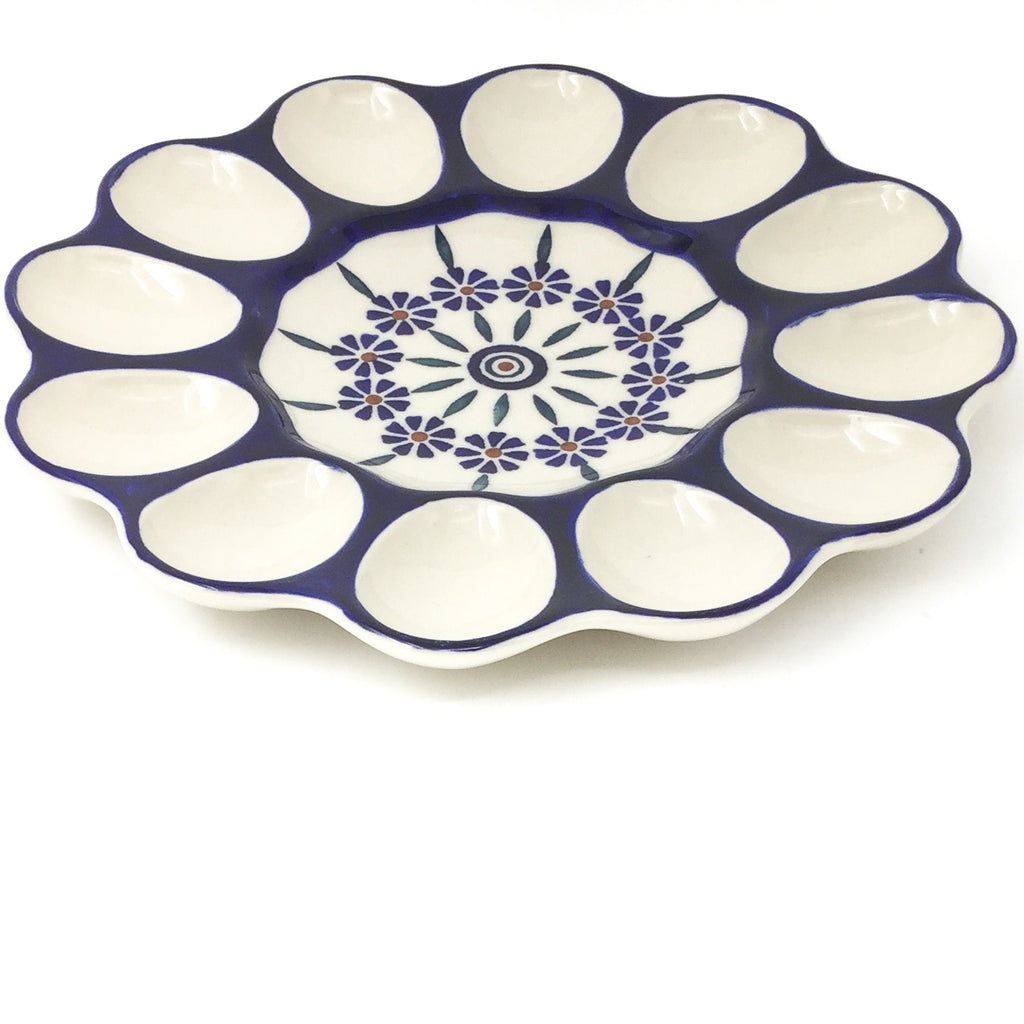 Deviled Egg Plate in Peacock