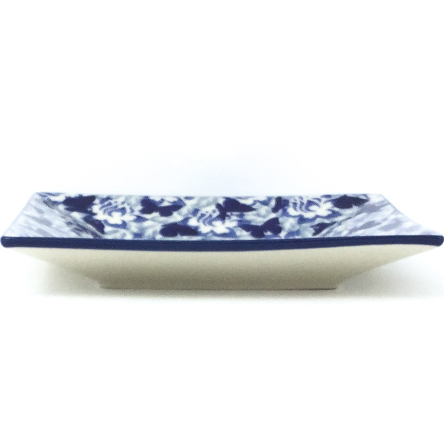 Square Luncheon Plate in Blue Butterfly