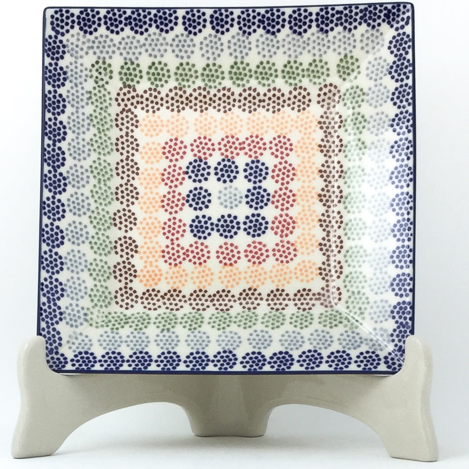 Square Luncheon Plate in Modern Dots