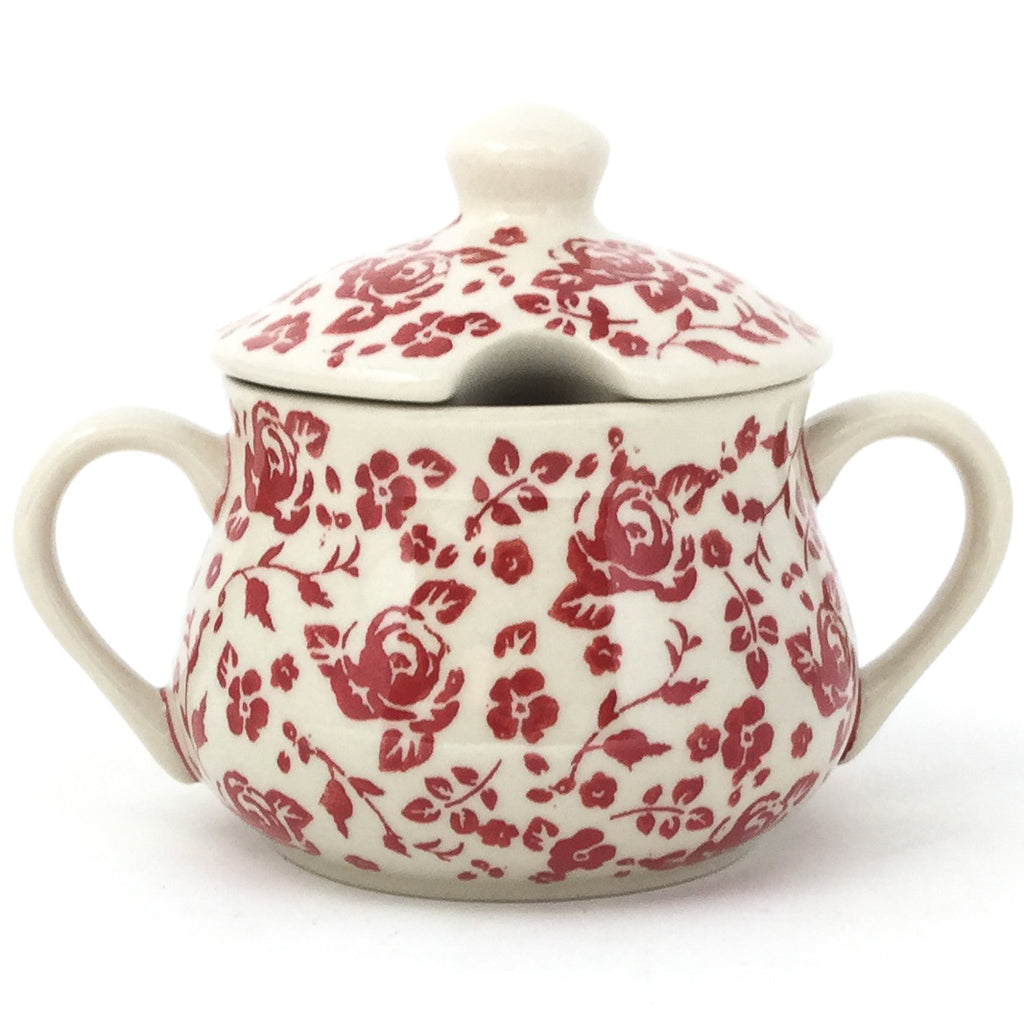 Family Style Sugar Bowl 14 oz in Antique Red