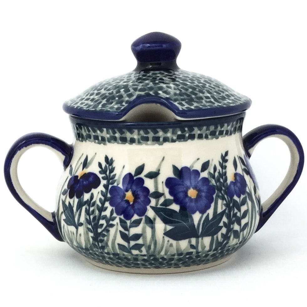 Family Style Sugar Bowl 14 oz in Wild Blue
