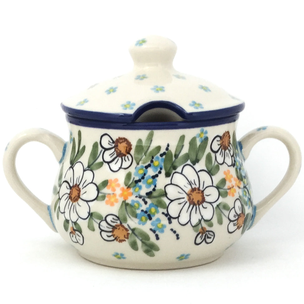 Family Style Sugar Bowl 14 oz in Spectacular Daisy