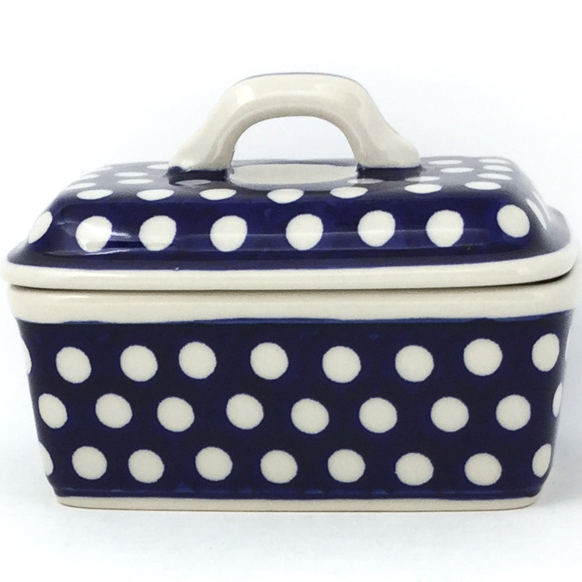 Butter Box in White Polka-Dot