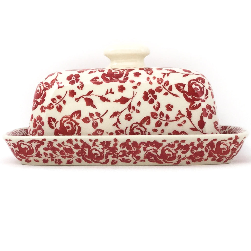 Butter Dish in Antique Red