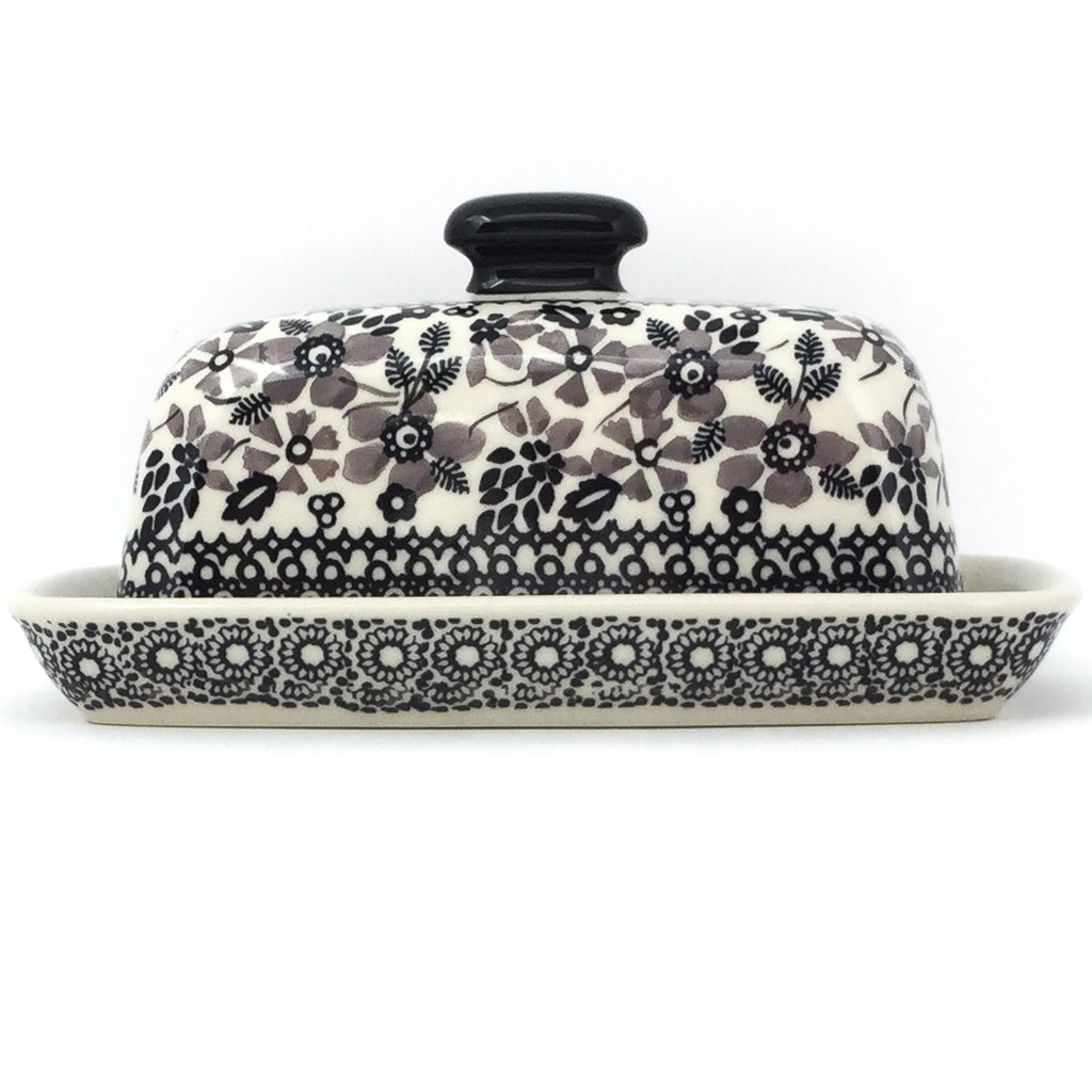 Butter Dish in Gray & Black