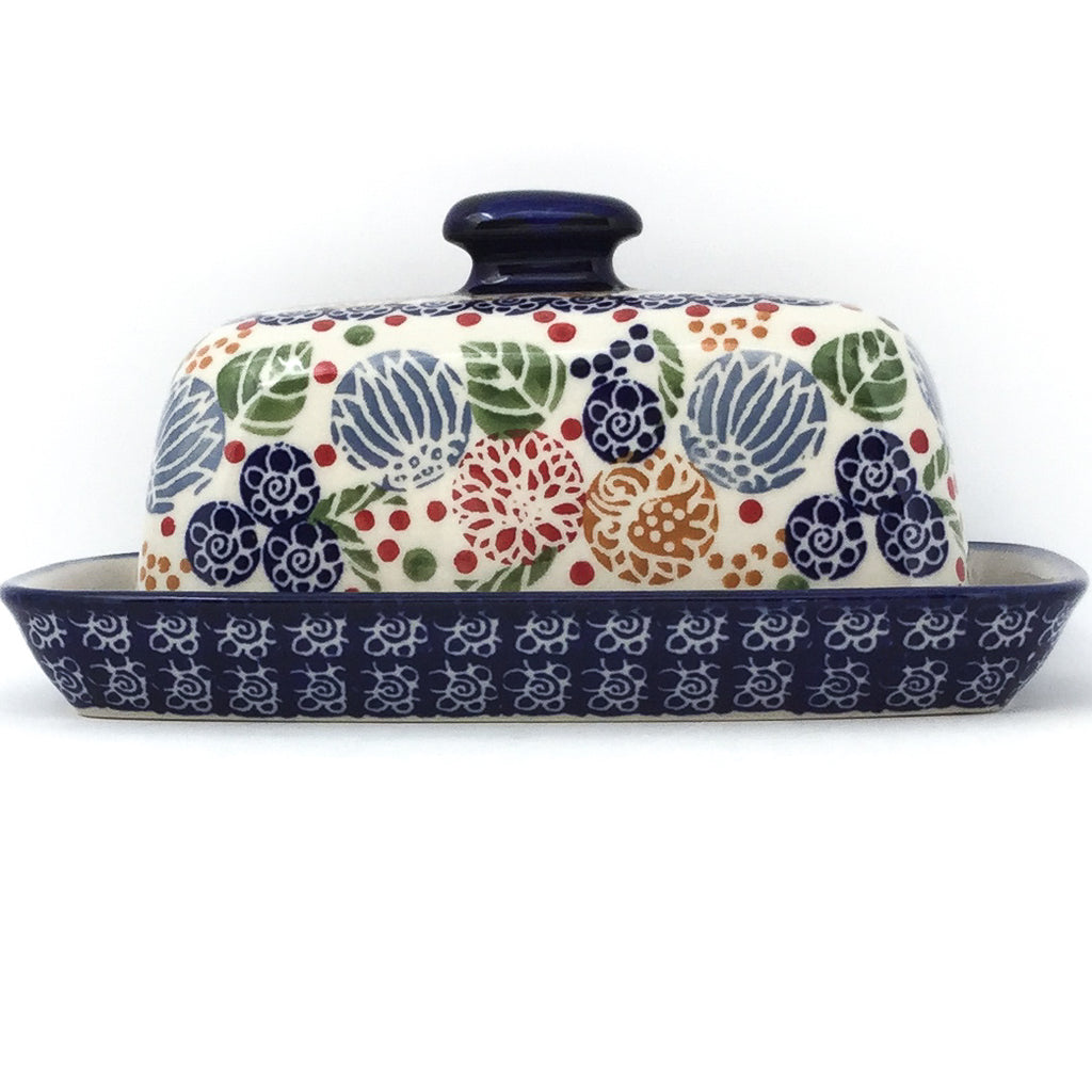 Butter Dish in Modern Berries