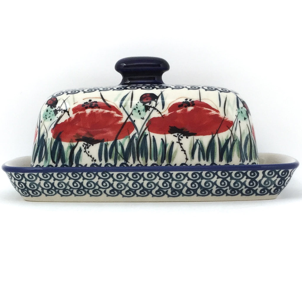 Butter Dish in Polish Poppy