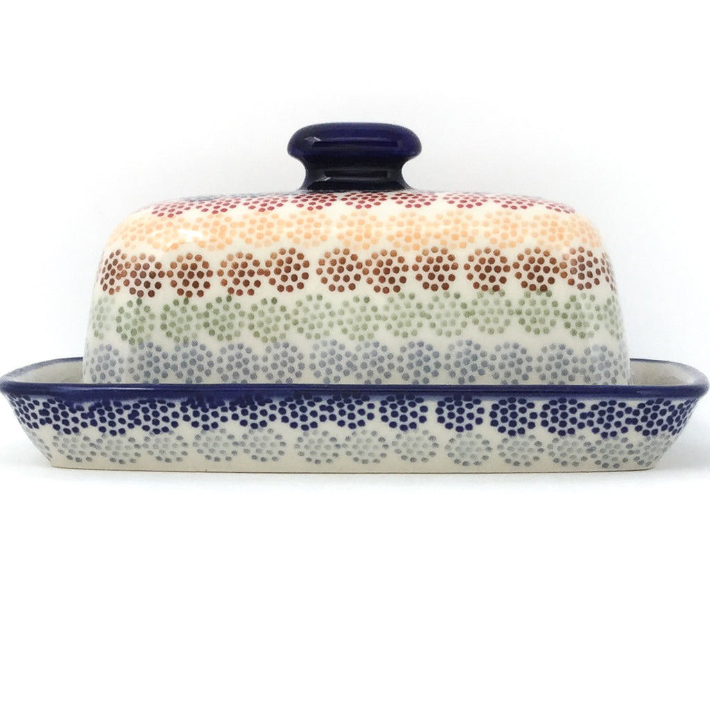 Butter Dish in Modern Dots