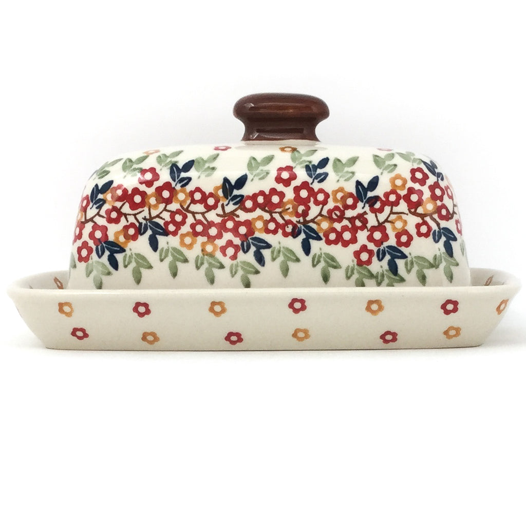 Butter Dish in Tiny Flowers