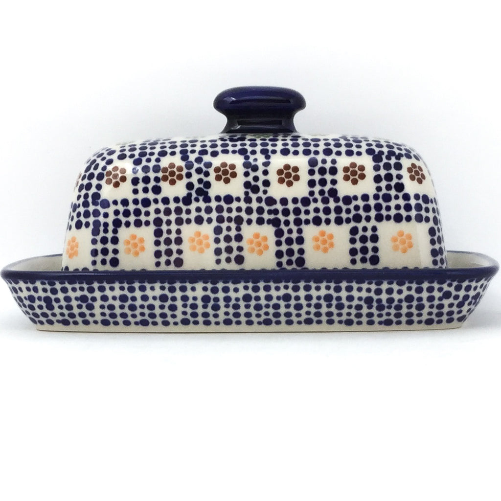 Butter Dish in Modern Checkers
