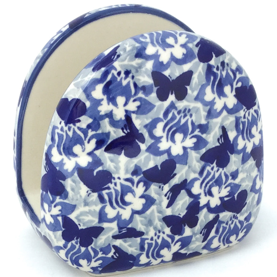 Napkin Holder in Blue Butterfly