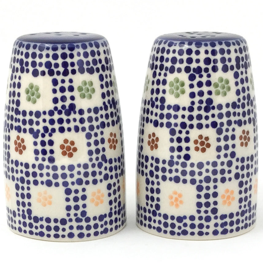 Salt & Pepper Set in Modern Checkers