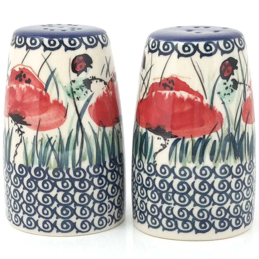Salt & Pepper Set in Polish Poppy