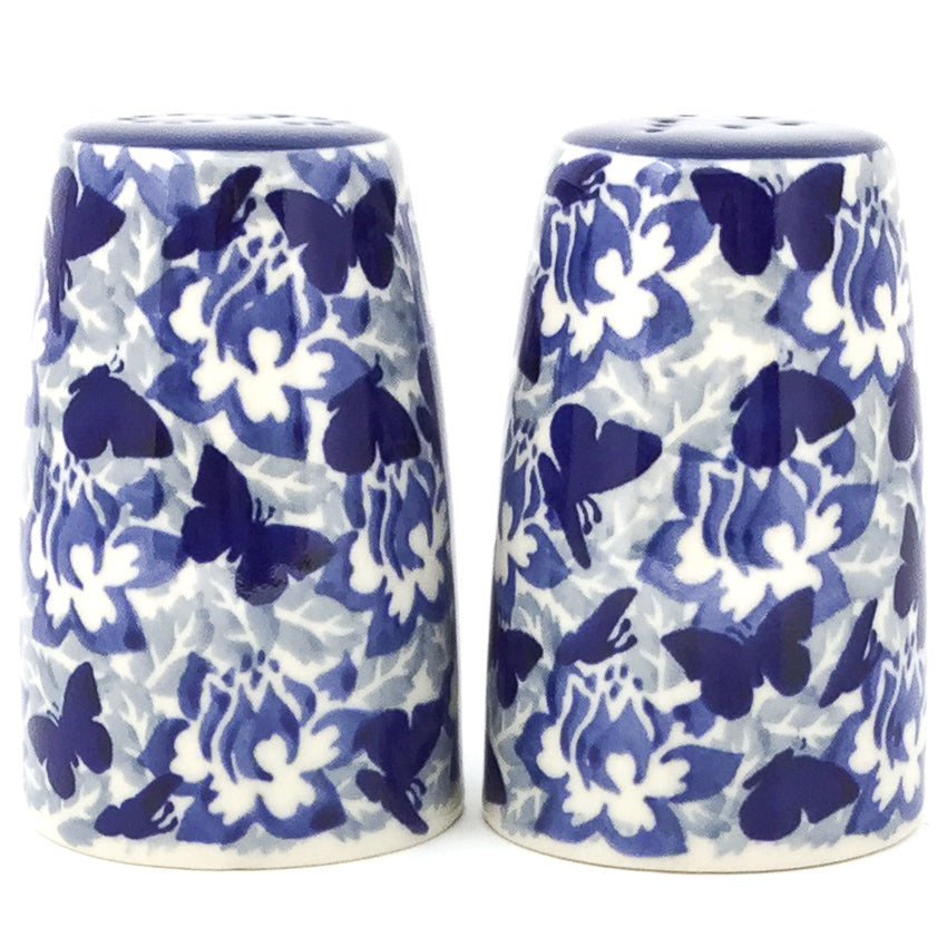 Salt & Pepper Set in Blue Butterfly