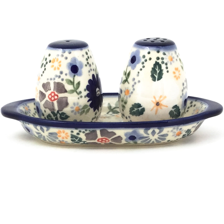Salt & Pepper Set w/Tray in Morning Breeze