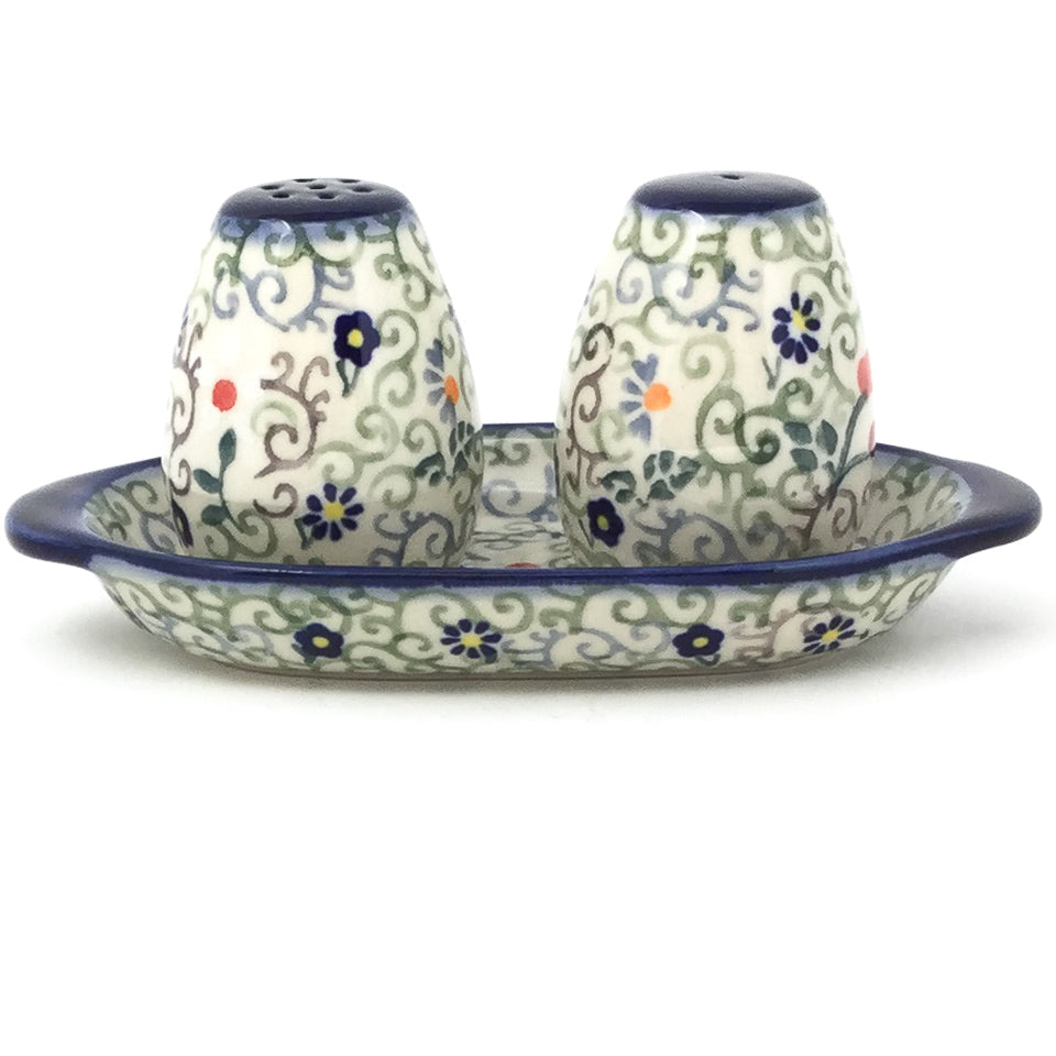 Salt & Pepper Set w/Tray in Early Spring