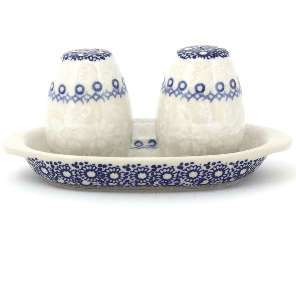 Salt & Pepper Set w/Tray in Delicate Blue