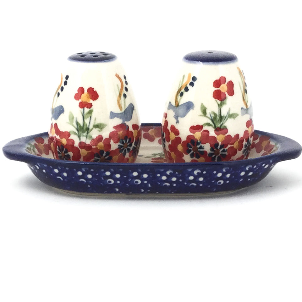 Salt & Pepper Set w/Tray in Simply Beautiful