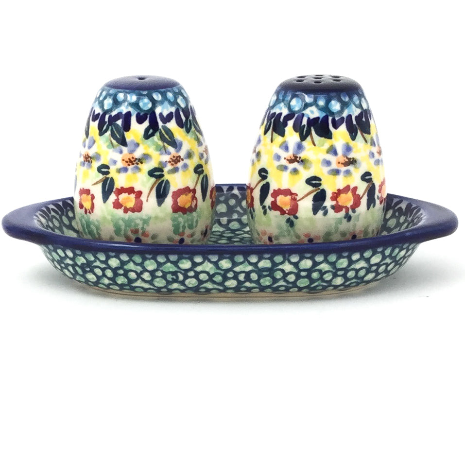 Salt & Pepper Set w/Tray in Country Fall