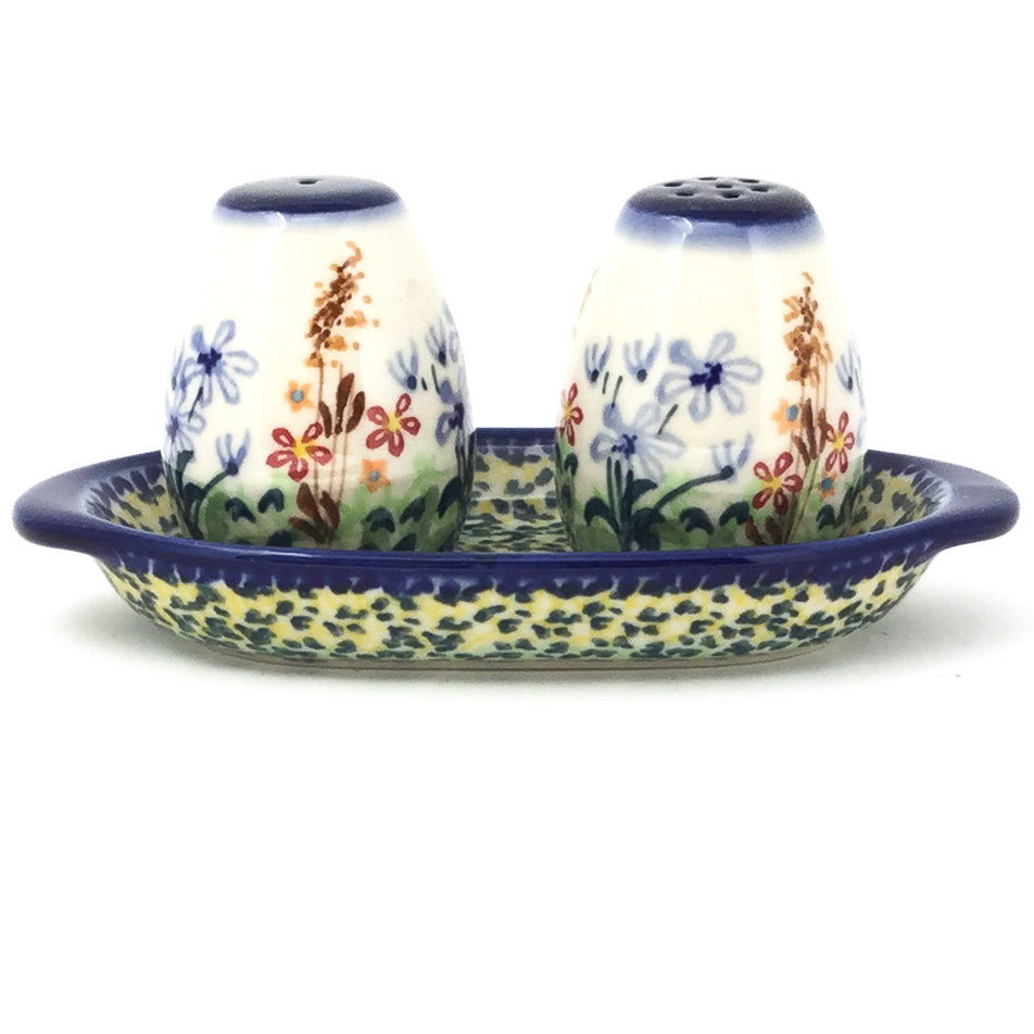 Salt & Pepper Set w/Tray in Country Spring