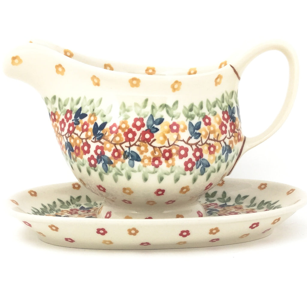 Gravy Boat w/Tray 1 qt in Tiny Flowers