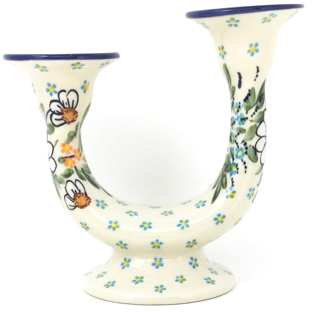 Double Candle Holder in Spectacular Daisy