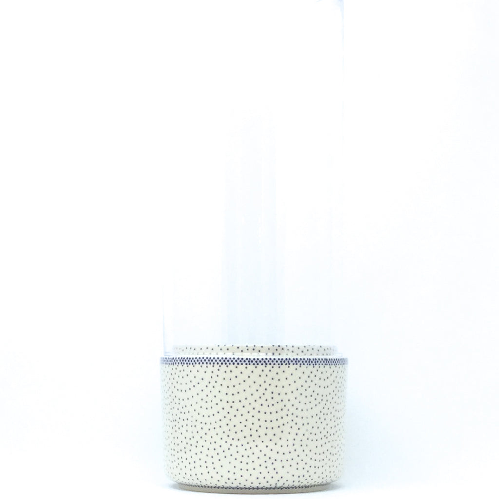 Lg Glass Candle Holder in Simple Elegance