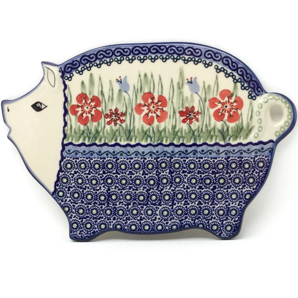 Piggy Cutting Board in Spring Meadow