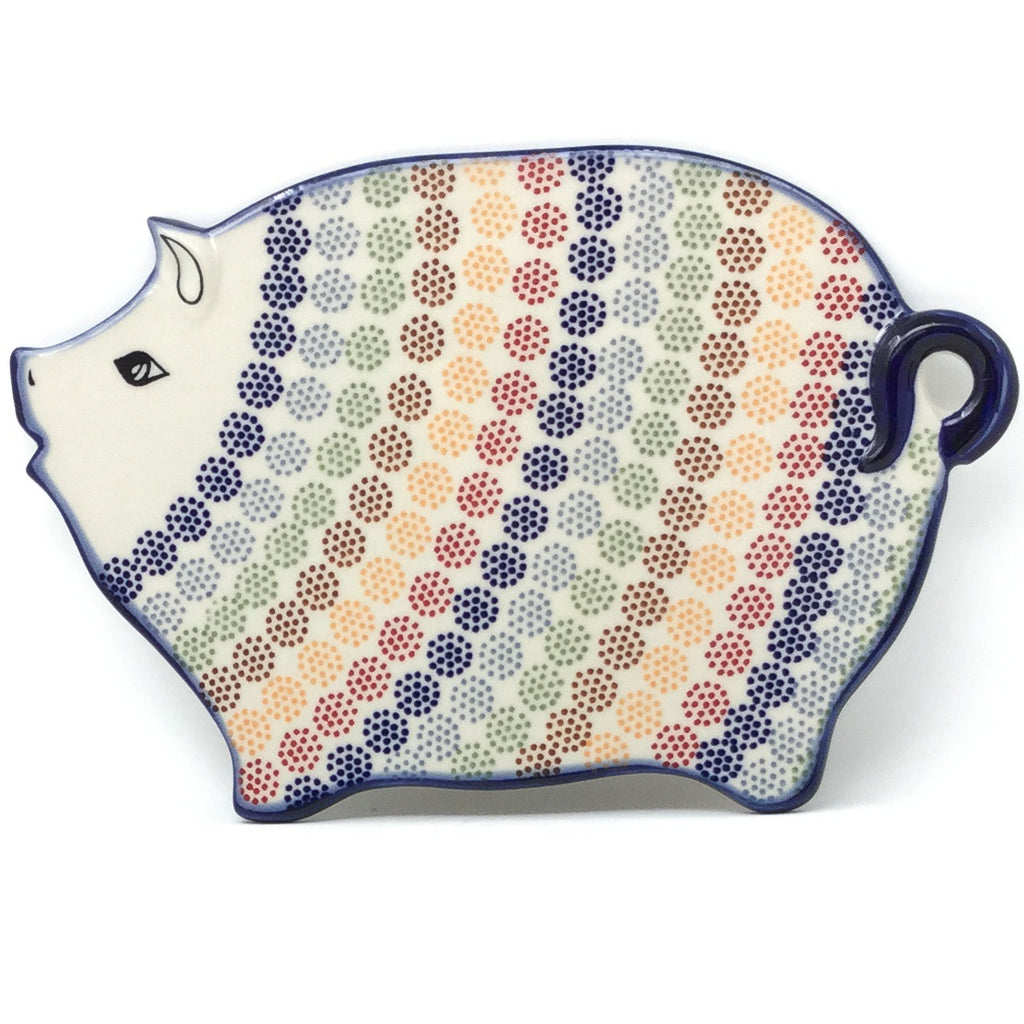 Piggy Cutting Board in Modern Dots