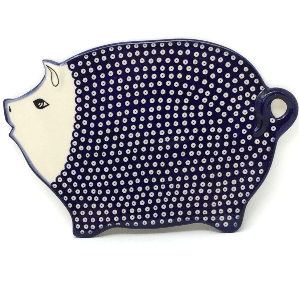 Piggy Cutting Board in Blue Elegance