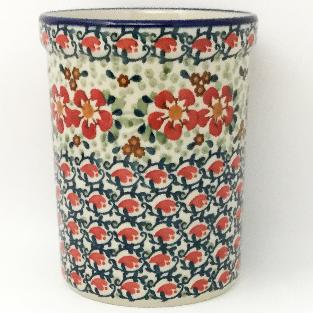 Utensil Holder 2 qt in Red Poppies