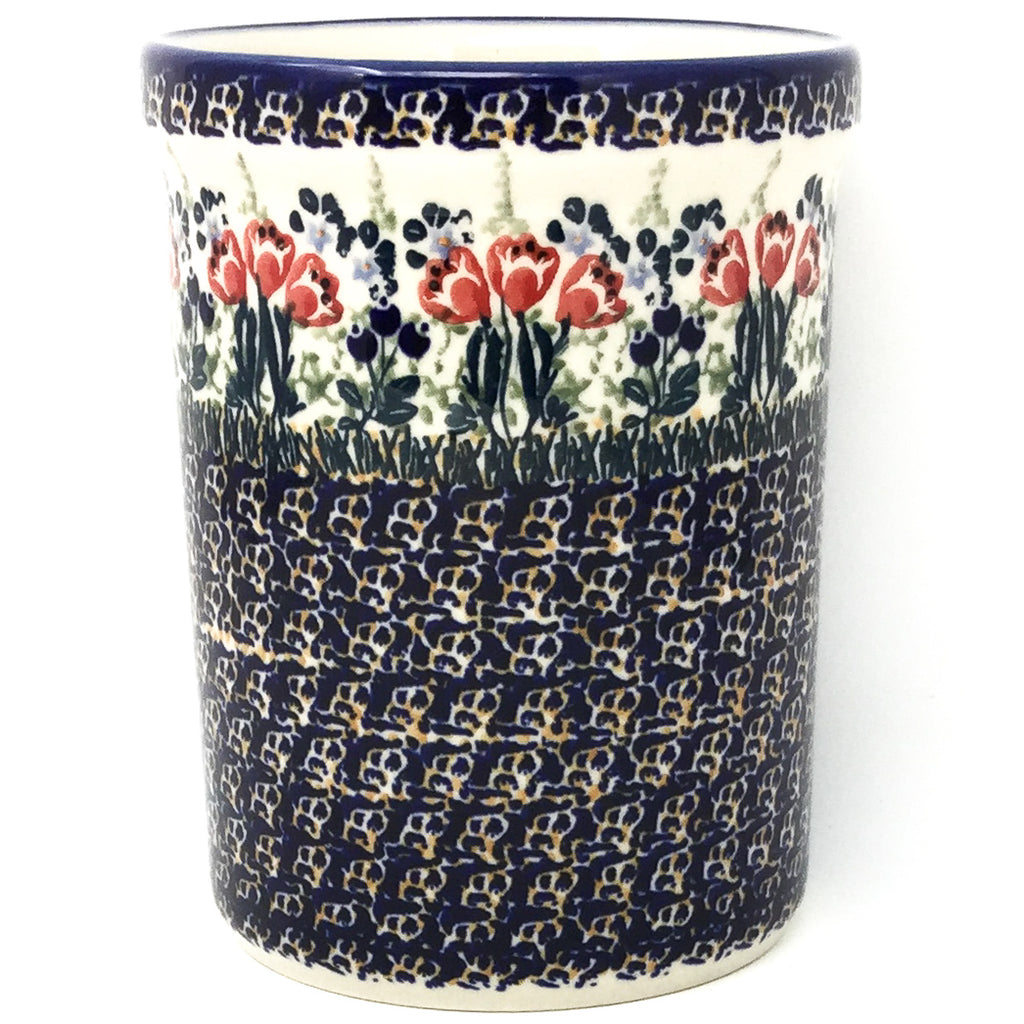 Utensil Holder 2 qt in Red Tulips
