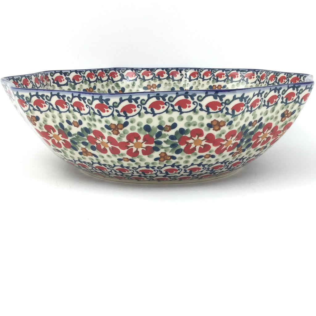 Lg New Kitchen Bowl in Red Poppies