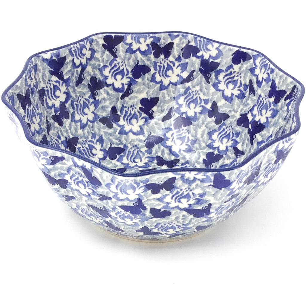 Sm New Kitchen Bowl in Blue Butterfly