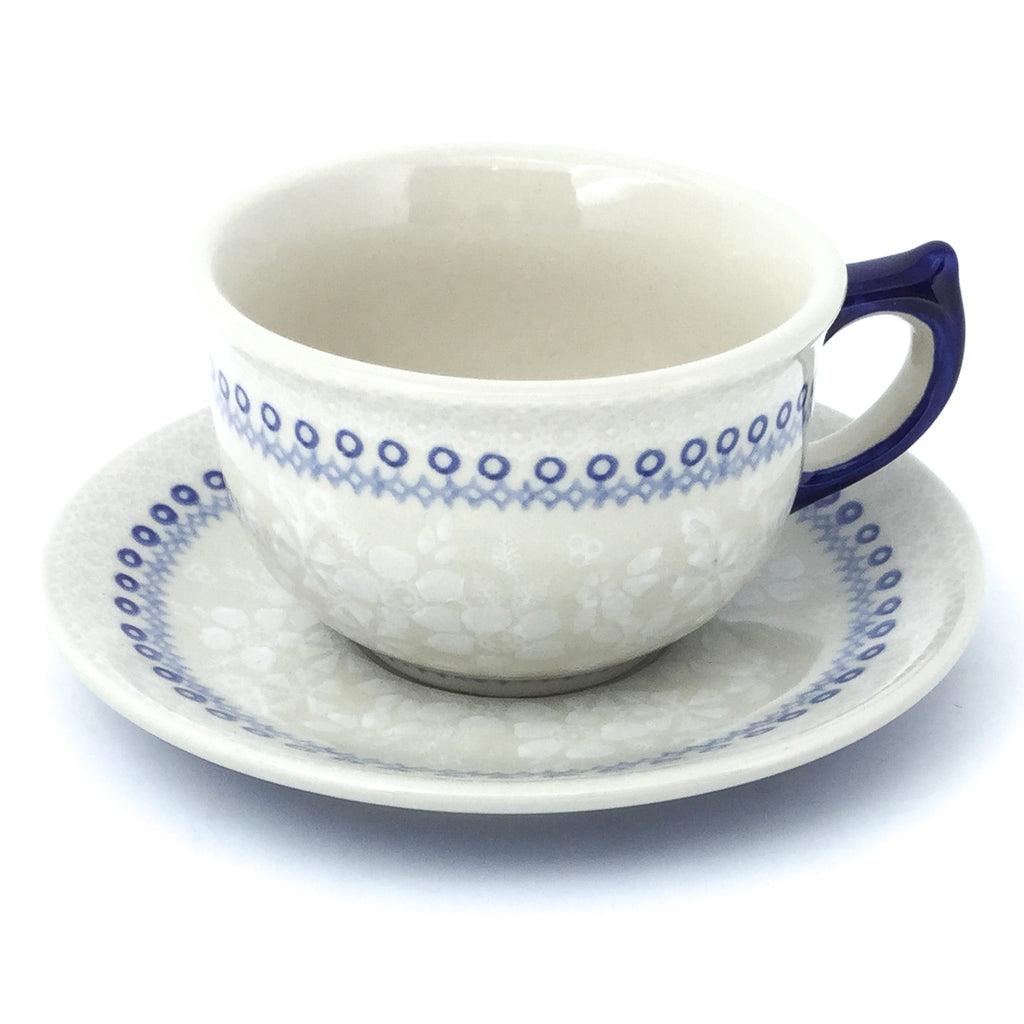 Tea Cup w/Saucer 8 oz in Delicate Blue