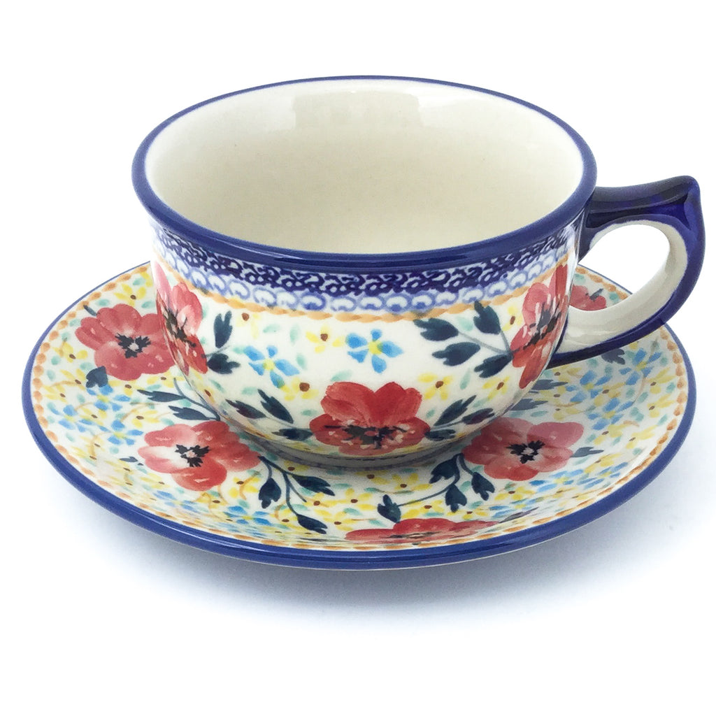 Tea Cup w/Saucer 8 oz in Sophie's Garden