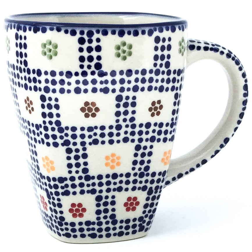 Square Cup 12 oz in Modern Checkers