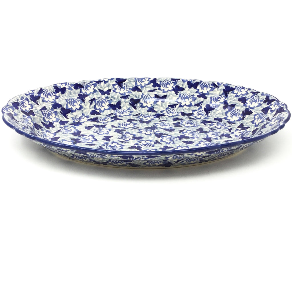 Oval Basia Platter in Blue Butterfly