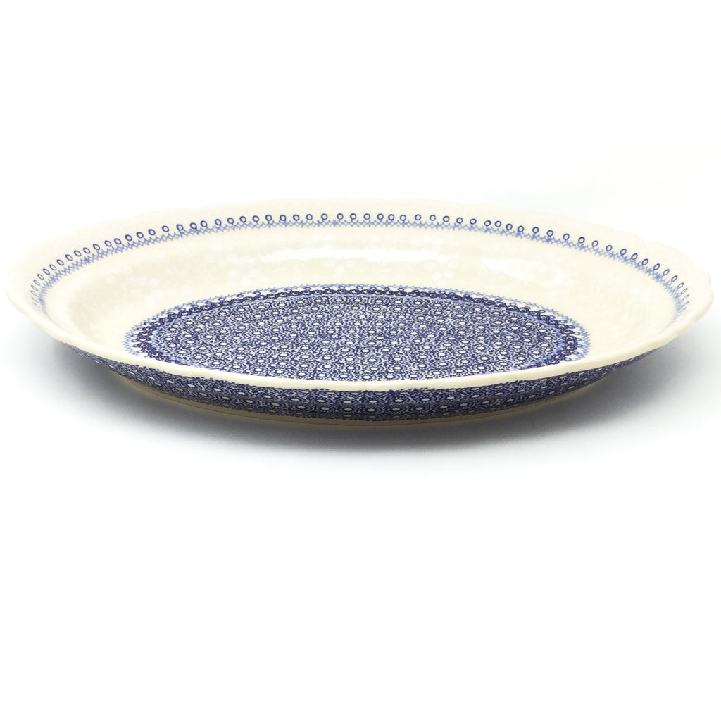 Oval Basia Platter in Delicate Blue