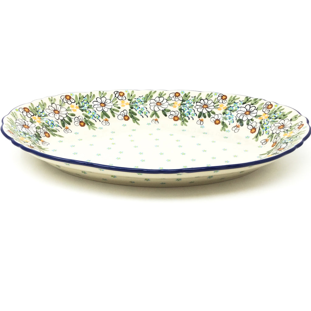Oval Basia Platter in Spectacular Daisy