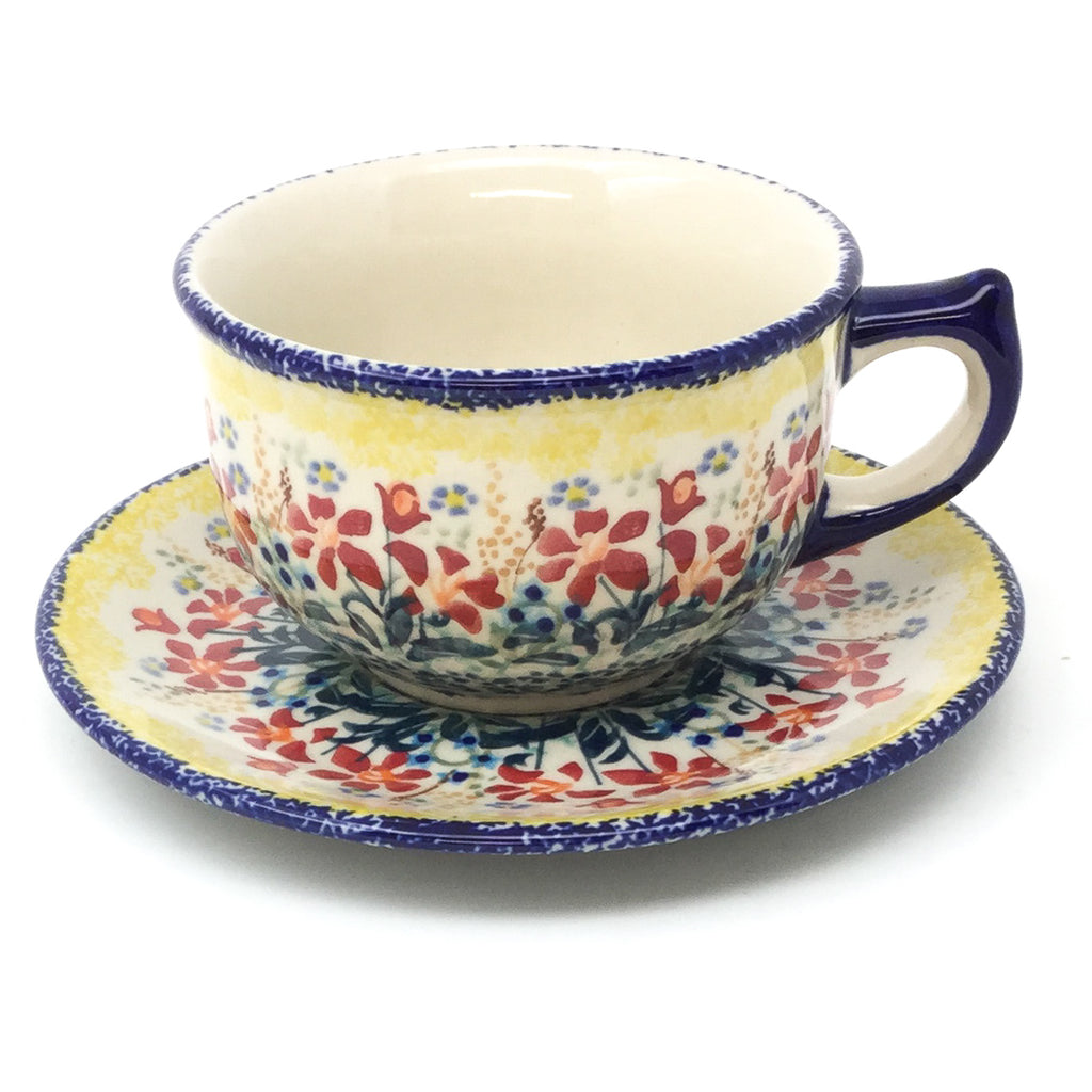 Tea Cup w/Saucer 8 oz in Country Summer