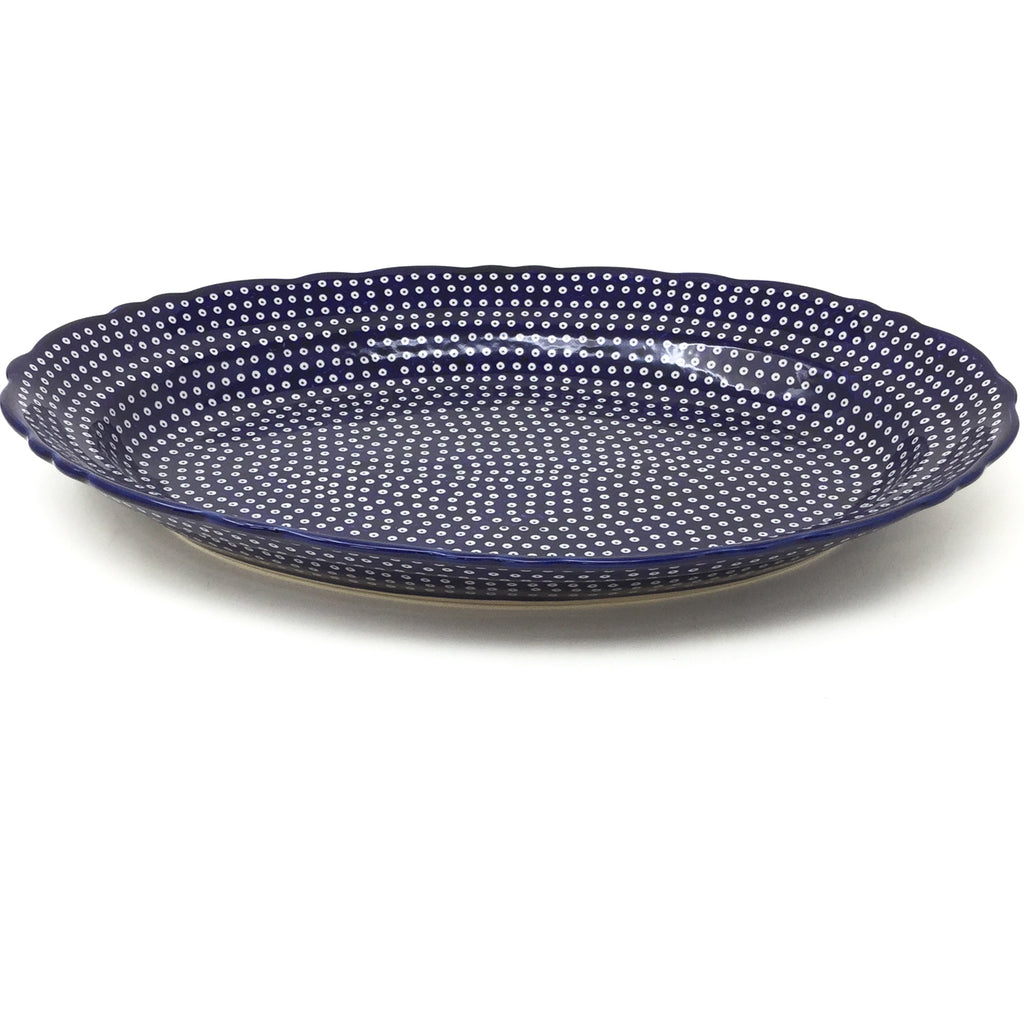 Oval Basia Platter in Blue Elegance