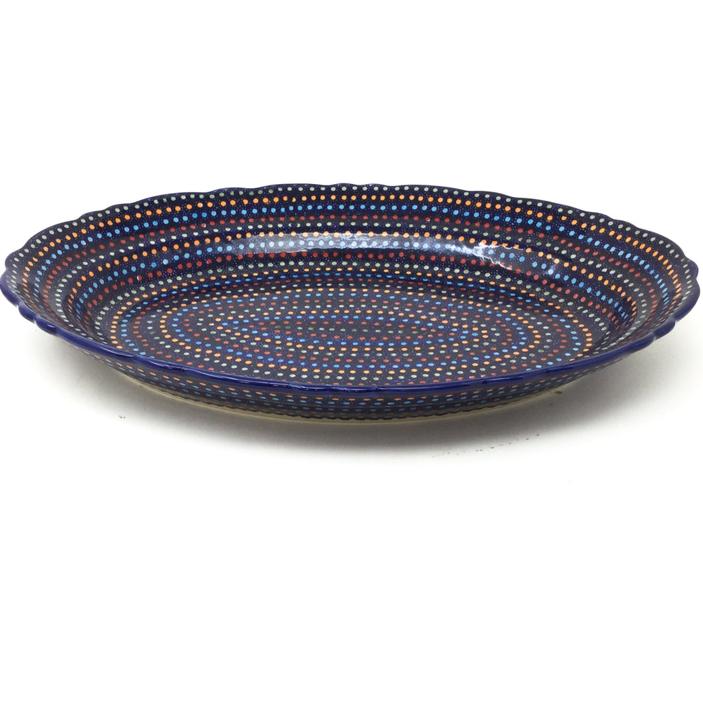 Oval Basia Platter in Multi-Colored Dots