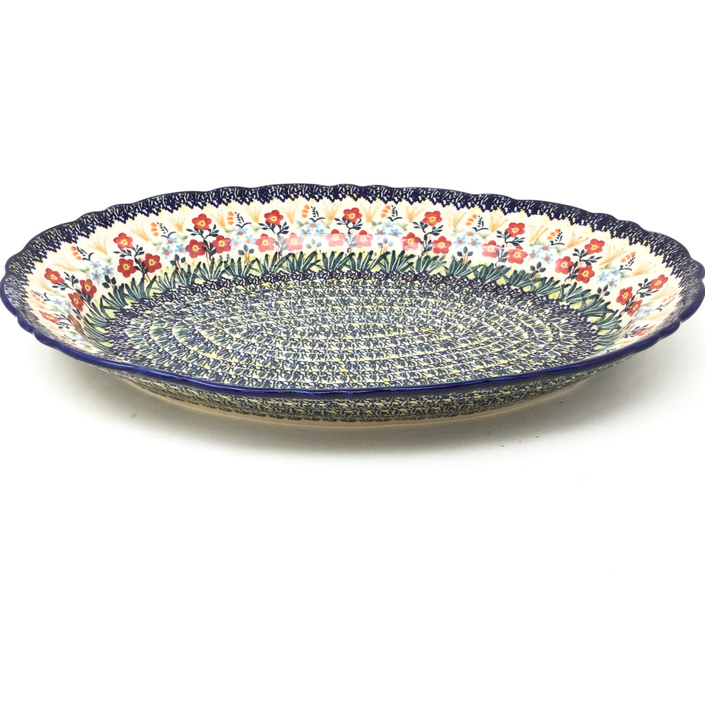 Oval Basia Platter in Autumn Bouquet