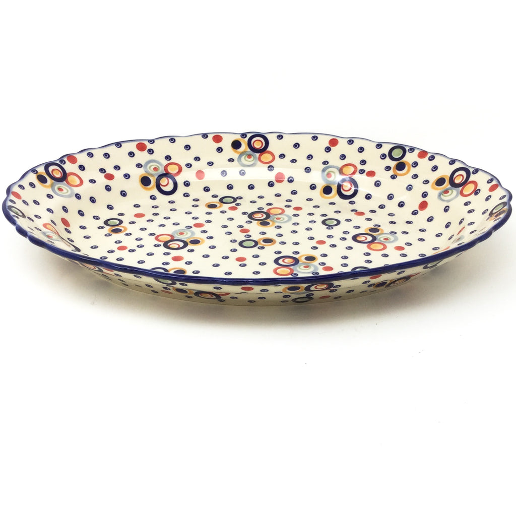 Oval Basia Platter in Modern Circles
