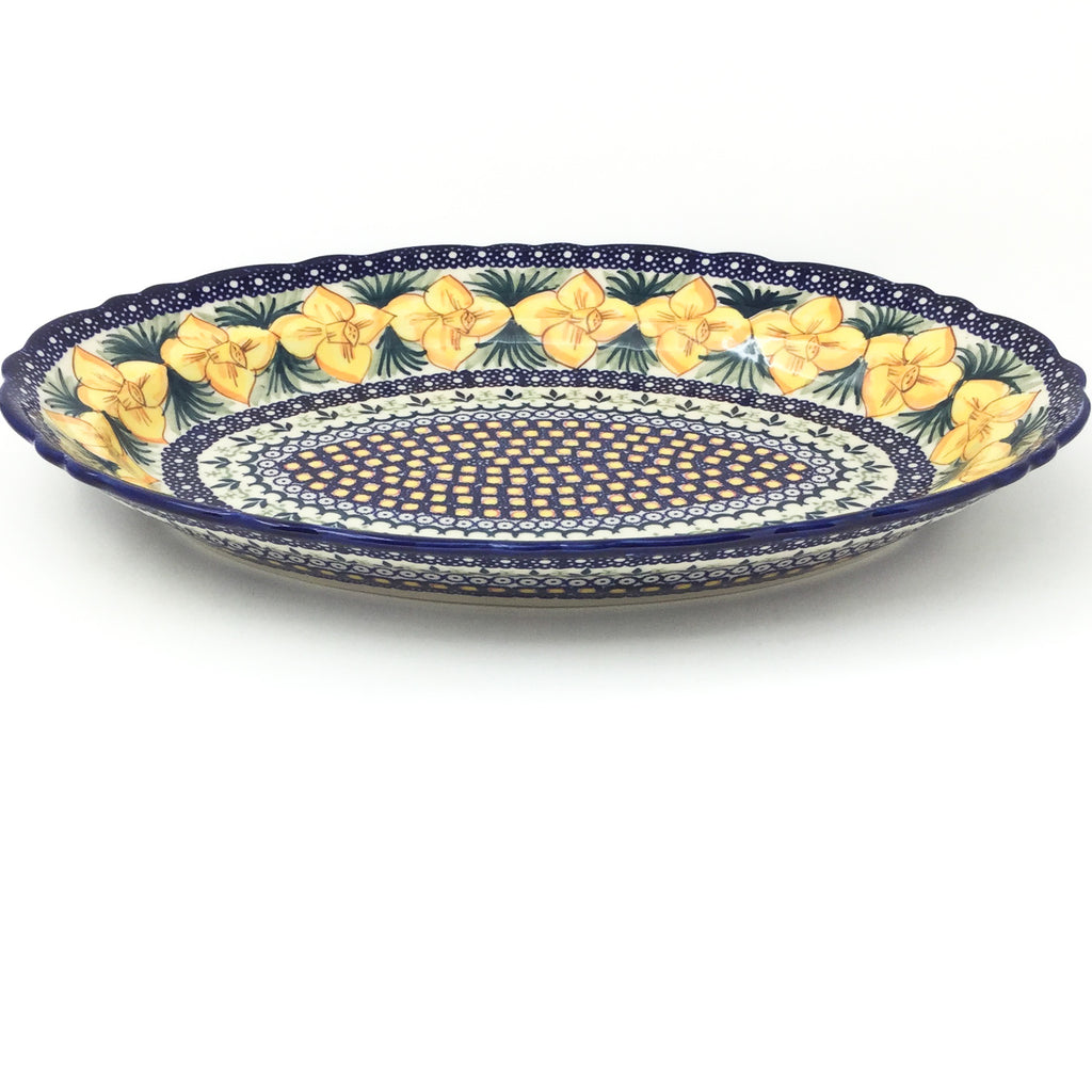 Oval Basia Platter in Daffodils