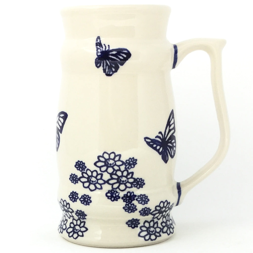Large Beer Stein 28 oz in Butterfly