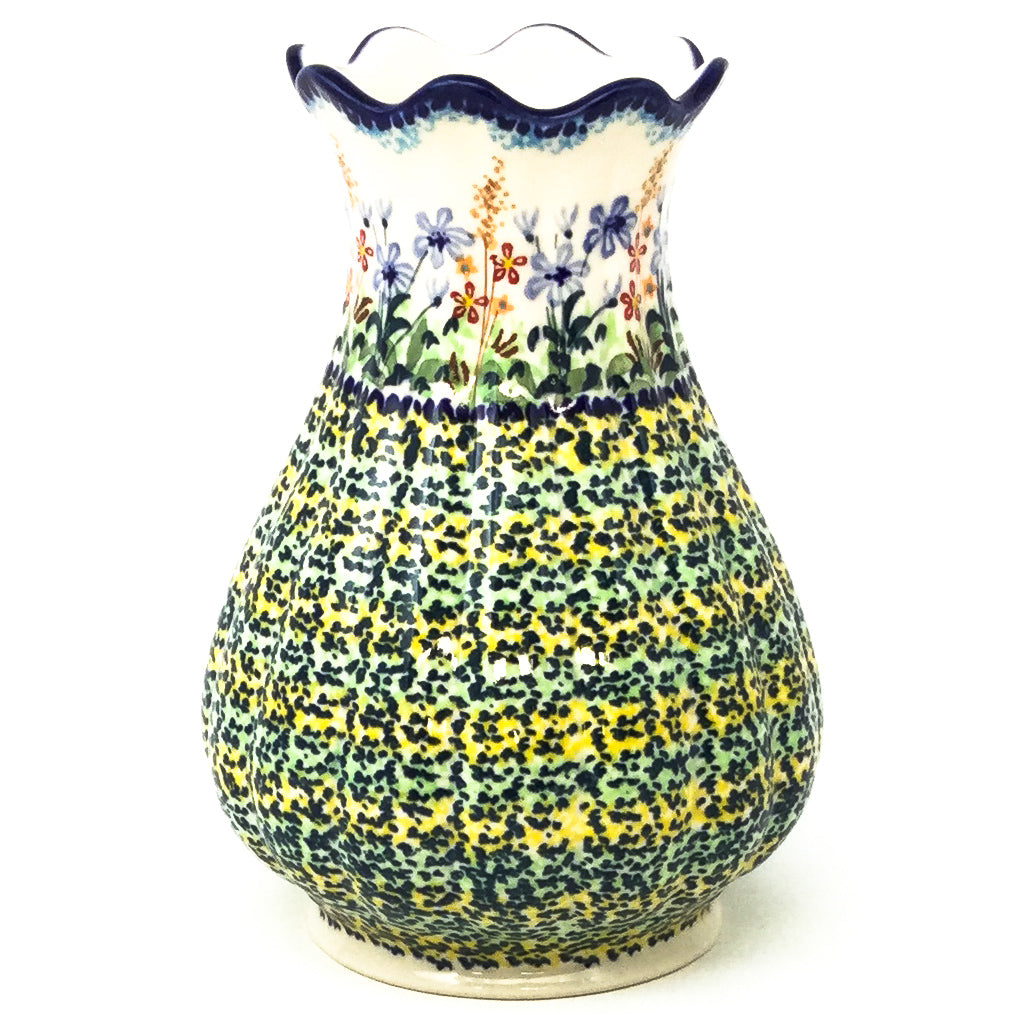 Scalloped Vase in Country Spring